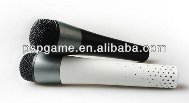 For microsoft xbox 360 wireless microphone karaoke microphone black white