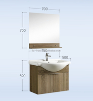 FRANK Wholesale modern simple wall mounted bathroom vanity white bath room cabinet