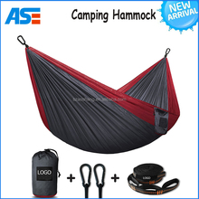 Double Camping Hammock - XL Hammocks, FREE Premium Straps & Carabiners - Lightweight + Compact Parachute Nylon