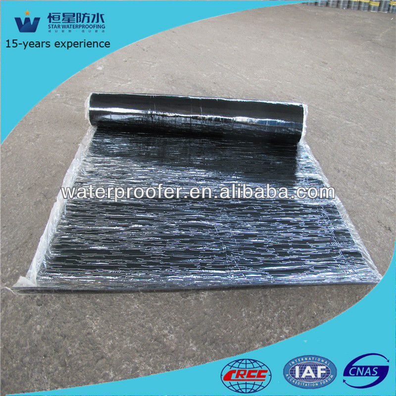 Polyester reinforced 4mm app rubber tunnel waterproofing bitumen rolls