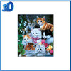 PET Lenticualr 3d plastic picture of animal wall hanging decoration