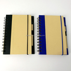 Eco Magnetic Notebook with Sticky Notes and Flags & Pen
