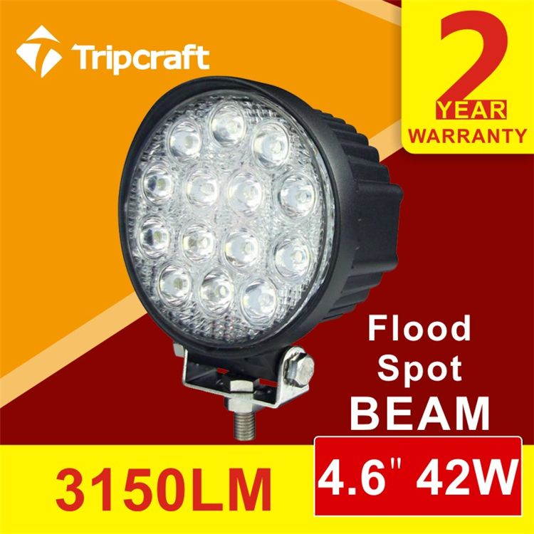 Manufacture Automobile Motorcycle Accessory12v 24v 42w Led Work Light,Sopt Beam,Waterpoof