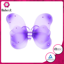 double layer wholesale cheap fashion purple fairy butterfly for deress up