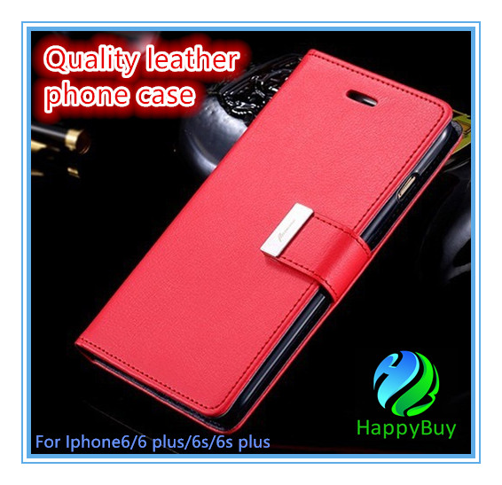Best selling eather wallet case wholesale price PU luxury protective defender flip phone case for iphone 6/6s/6 Plus/6s Plus