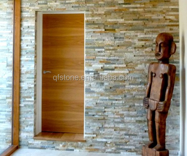 slate stacked stone natural stone durable wall decoration indoor