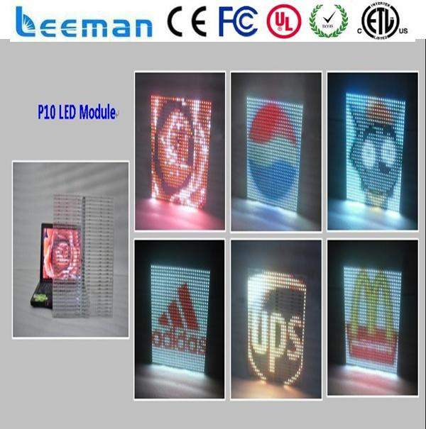 new product glass music viedo led display P7.62 dot matrix RGB high definition alibaba express led glass video display screen
