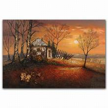 sunrise beautifu scenery oil painting for living room
