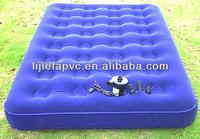 fashional high quality pink/blue clore pvc small inflatable mattress