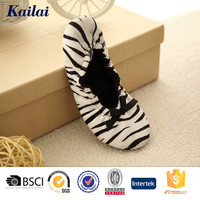 fashion style zebra printed dancing shoes for ladies