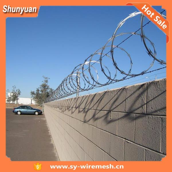 SY Low price barbed wire mesh /Double Steel Galvanized Barbed Wire/PVC coated bardes wire mesh fence