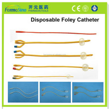 6-26FR disposable nature latex foley cathter