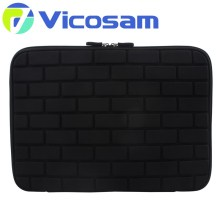 Factory wholesale 17 inch neoprene laptop sleeve with handle , soft fur laptop sleeve bag with pocket ,sleeve for hp laptop
