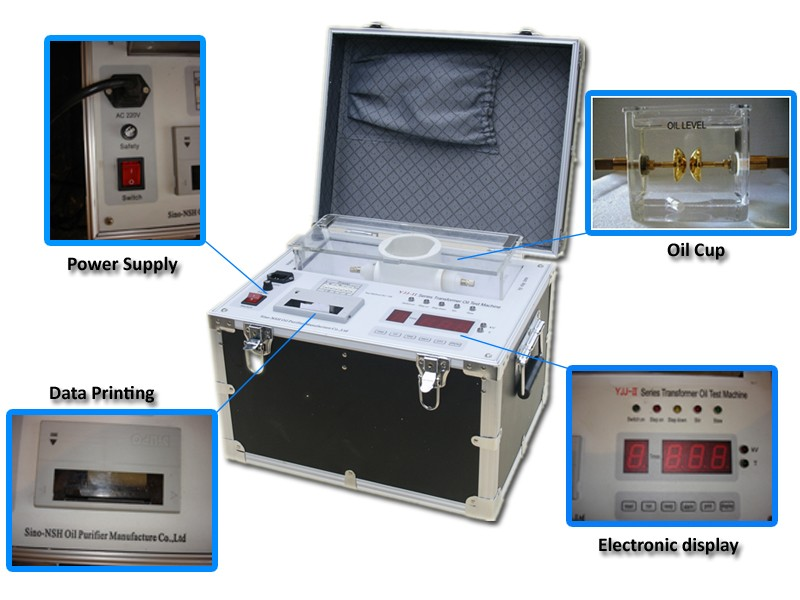 Transformer Oil Breakdown Voltage Test Kit, BDV Tester