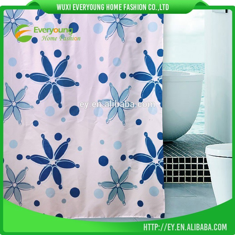 Top One Latest Design Polyester Shower Curtain