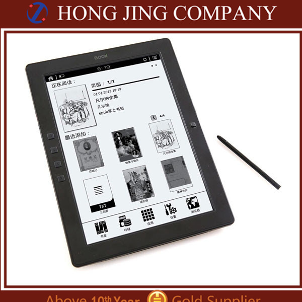 "Certificated M96 9.7"" inch E-ink Pearl screen ebook reader with Wifi stylus touch"