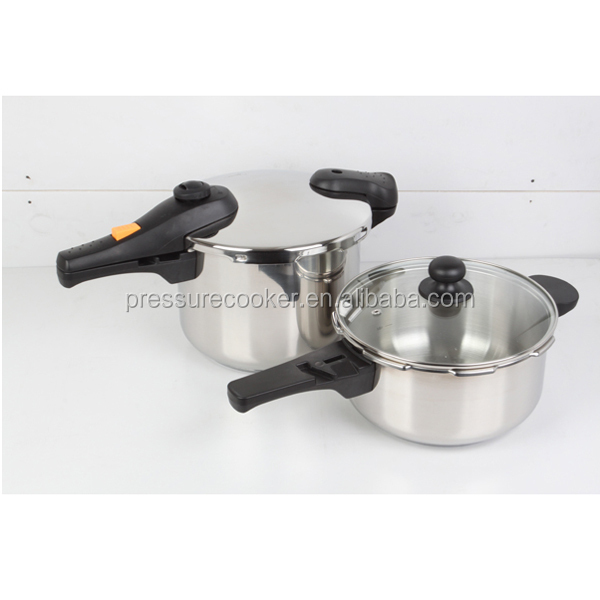 Non electric pressure cooker stainless steel cookware set