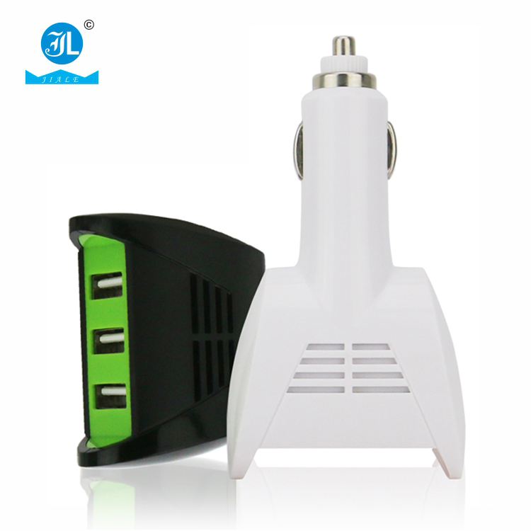 12v output car battery charger socket 3 USB ports 2.4A car charger for mobile phone