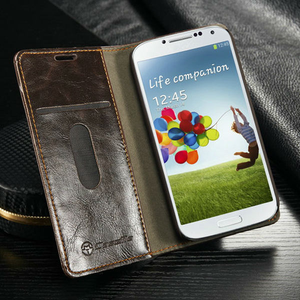 For Samsung galaxy S4 i9500 Flip PU leather case for Samsung s4 i9500 magnet leather case