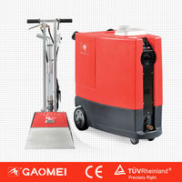 Extra-large water tanks , 5 group of spray nozzle ,which match high speed swing brush.Swing brush carpet cleaning machine GM-4/5