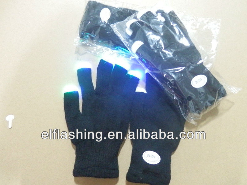 LED cololful Lighting gloves