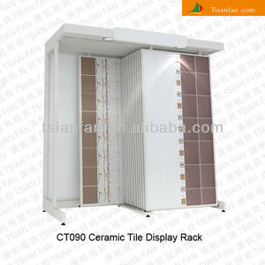 CT090 Sturdy Slab Stone / Ceramic Tile Display Racks With Steel