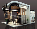 Luxurious retail cosmetic display showcase with cosmetic shop interior design for shopping mall