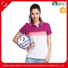 Customized Tie Dyed Promotional Polo Shirts for Women
