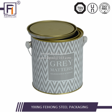 Wholesale cheap custom printed 1 gallon empty metal can
