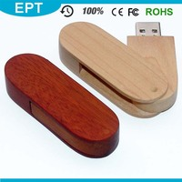 Wooden Swivel Large Quantity Factory USB 3.0 8GB USB Flash Drive For Gift