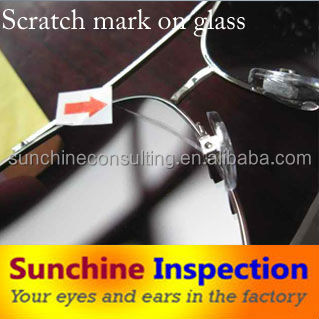 inspection service in china/glasses/quality inspection company
