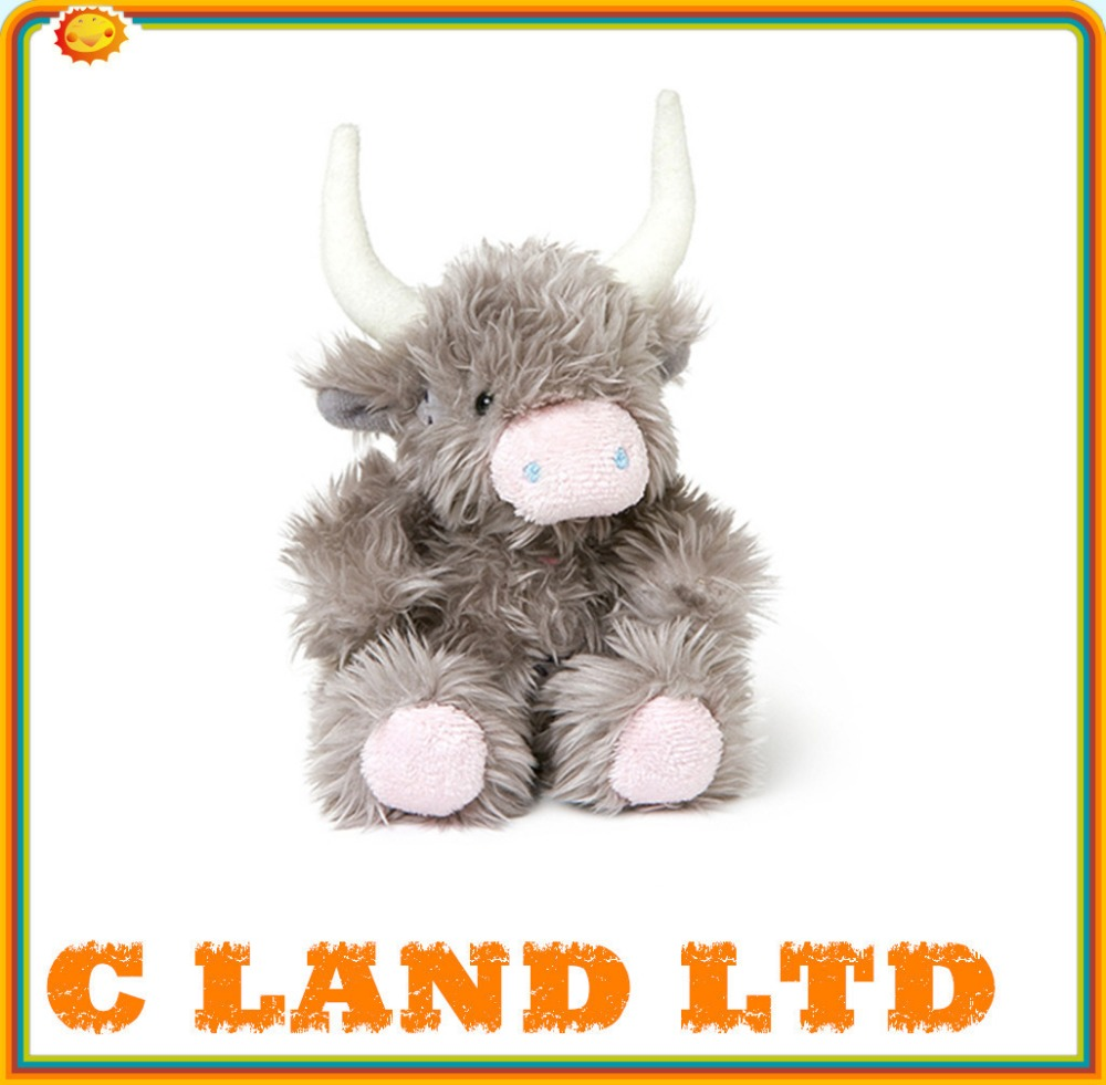 Soft plush toys, stuffed animals lovely plush furry cow