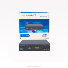 Manufacture price freesat V7 terrestrial 1080P Full HD DVB-T/T2 satellite receiver hd mpeg4 hd digital tv set top box