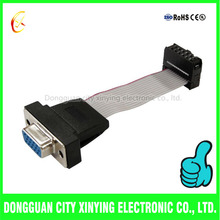 latop application vga to idc jst connector flat ribbon cable