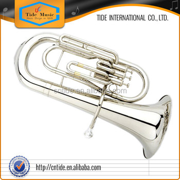 High grade euphonium, brass body, gold lacquer, Bb 3 piston valves