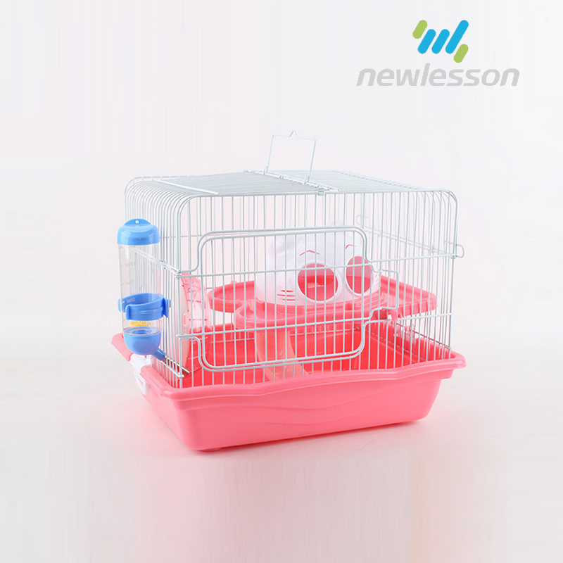 Portable small animal luxury cage hamster plastic house with handle