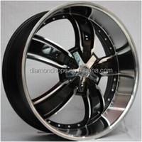 Deep Dish Black Machined Face Replica Aluminum Alloy Wheel 20