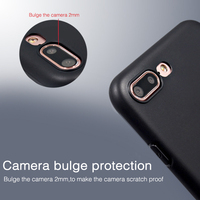 TPU preto caso de telefone inteligente para iphone 6 plus 6 + caso geléia para o iphone