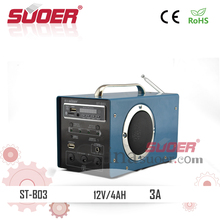 Suoer Best Price Solar Power System 12V 4AH Solar Power Generator with Superb Quality