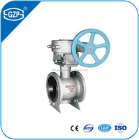 Supply High pressure casting iron API standard Metal sealing hand wheel DN100 ball valve
