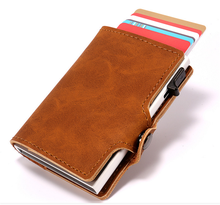 New Arrival Wedacrafts RFID Real Leather credit card holder/<strong>wallet</strong> for Amazon,e-Bay