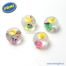Hot sale flash super duper glitter ball kids bouncing balls with flashing light