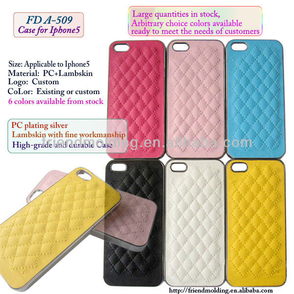 Lambskin cell phone cover for Iphone5