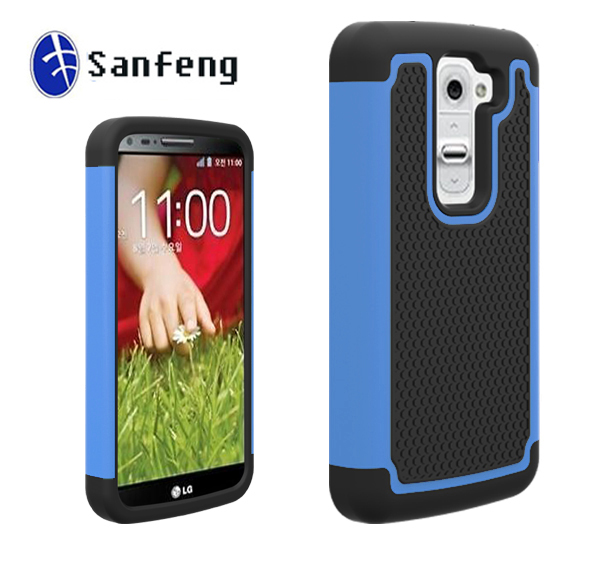 Black Soft Rubberized Blue Hard pc For lg g2 Mini Cell Phone Covers Case Many Color Available Made In China