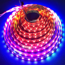 Hot selling DC5V Addressable WS2812/WS2812b DMX RGB Led Tape Light Strip for signs