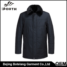 Winter sport jackets men classic coat dark blue mink skin stand collar men coat outwear