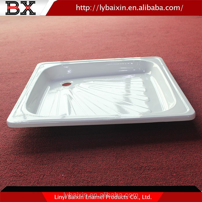 Acrylic Shower Pan Portable simple rectangle marble bathroom shower base