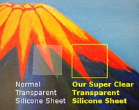 See Through Rubber Sheet Transparent Silicone Film : 500 mm x 1 meter : thickness 0.1 / 0.2 / 0.3 / 0.5 / 1.0 mm