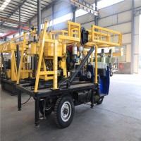 3-Wheel Truck Mounted Small Water Well Drilling Rig, HZC