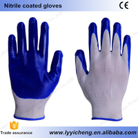 Excellent quality nitrile gloves cheap and durable soft feeling comfortable nylon cotton gloves latex PU PVC gloves